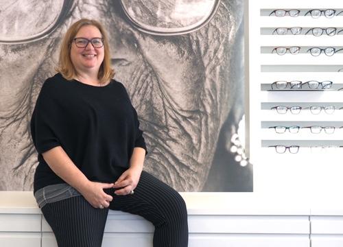 Optometristin Karin Naef